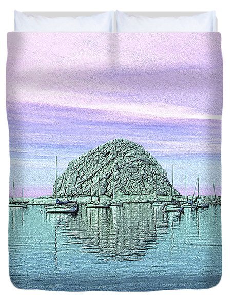 The Rock Duvet Cover by Kurt Van Wagner