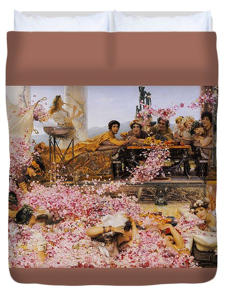 The Roses Of Heliogabalus Duvet Cover by Lawrence Alma-Tadema