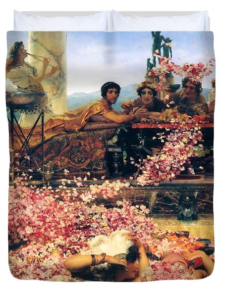 The Roses Of Heliogabalus Duvet Cover