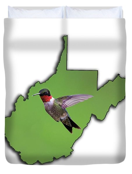 The Ruby-throated Hummingbird Duvet Cover