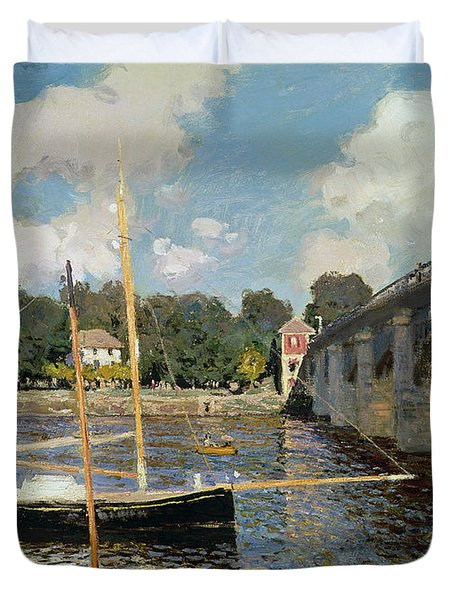 The Seine At Argenteuil Duvet Cover