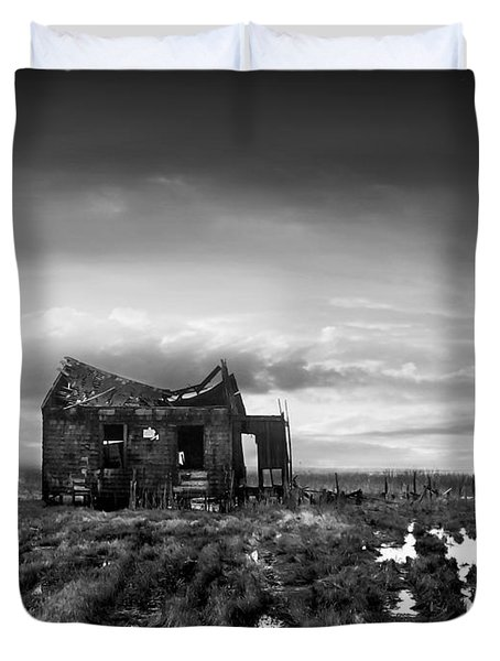 Duvet Cover featuring the photograph The Shack by Dana DiPasquale