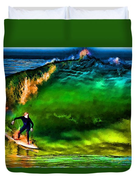 Duvet Cover featuring the photograph The Shadow Within by John A Rodriguez