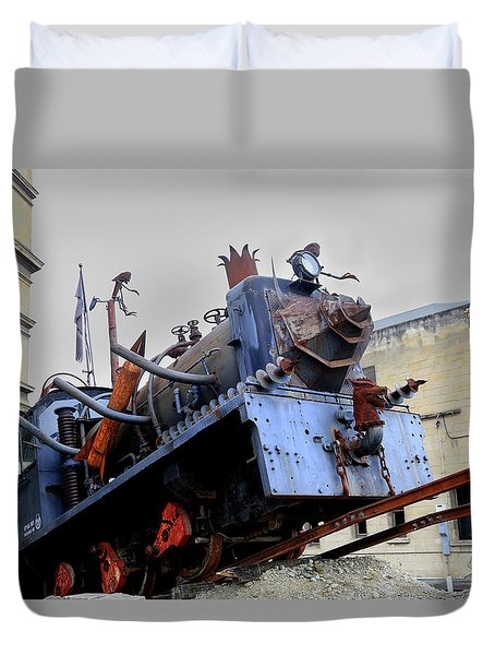 The Steam Punk Hq Engine Duvet Cover