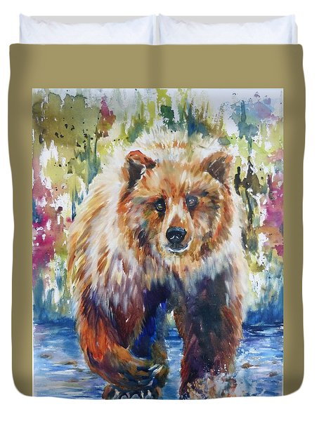 The Summer Bear Duvet Cover