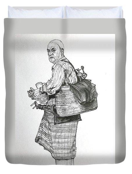 The Souss Vendor The Tea Man Duvet Cover