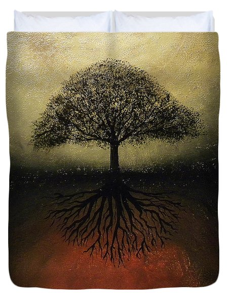 The Tree Of Life Duvet Cover by Edwin Alverio