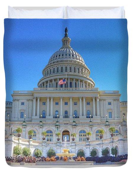 The Us Capitol Building - Washington D.c. Duvet Cover