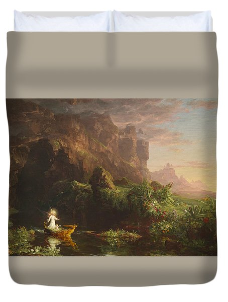 The Voyage Of Life, Childhood Duvet Cover