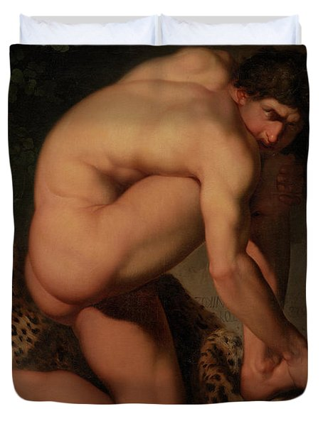 The Wounded Philoctetes Duvet Cover