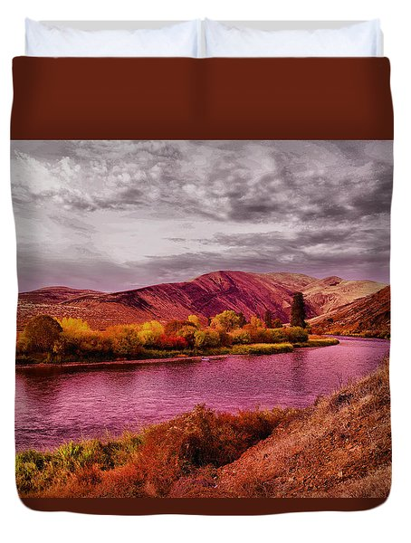 Duvet Cover featuring the photograph The Yakima River by Jeff Swan