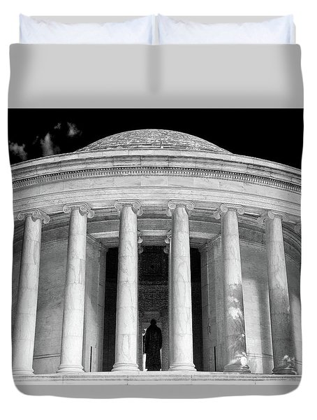 Duvet Cover featuring the photograph Thomas Jefferson Memorial  by Mitch Cat