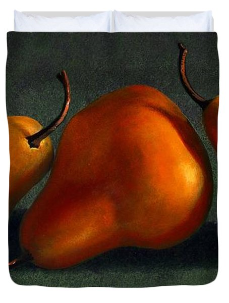 Three Golden Pears Duvet Cover