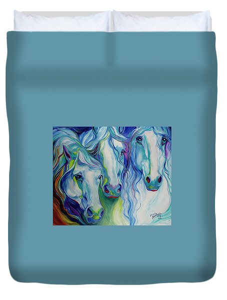 Three Spirits Equine Duvet Cover