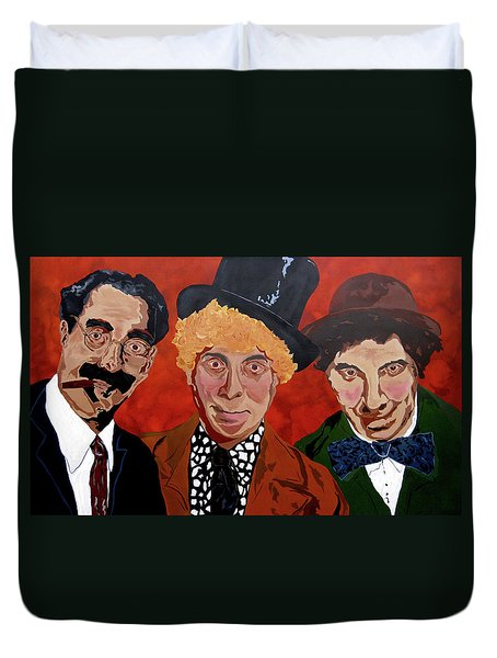 Three's Comedy Duvet Cover