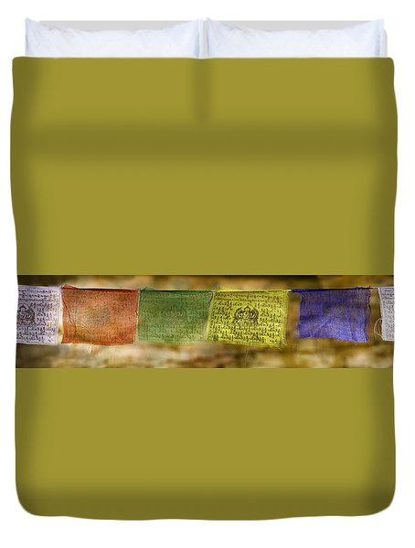Tibetan Prayer Flags Duvet Cover