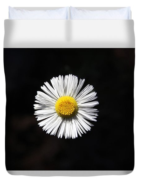 Duvet Cover featuring the photograph Tidy Fleabane by Charles Ables