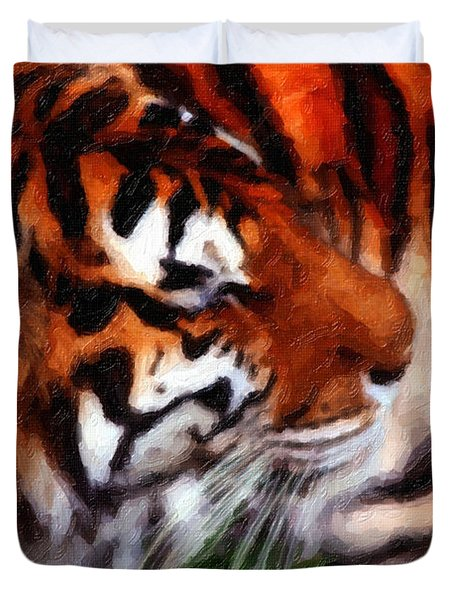 Tiger Duvet Cover by Andre Faubert