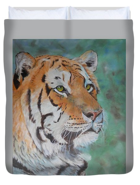 Tiger Portrait Duvet Cover