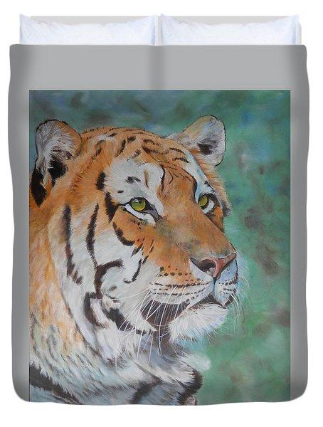 Tiger Portrait Duvet Cover