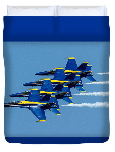 Tight Formation Duvet Cover by Allan Levin