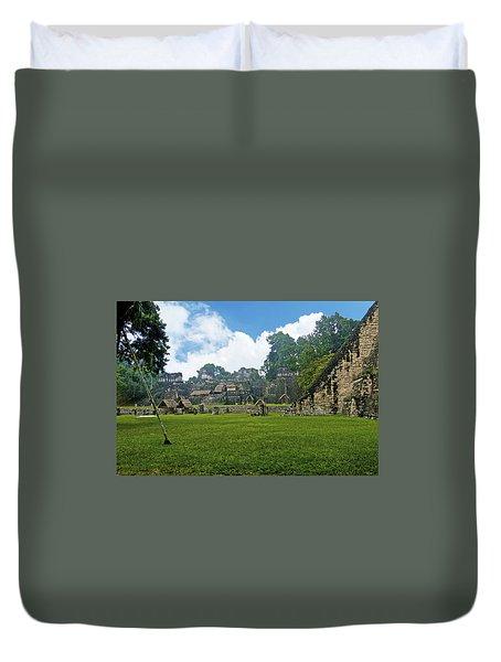Tikal, Guatemala Duvet Cover by Marius Sipa