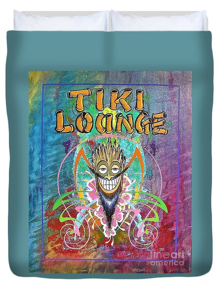 Tiki Lounge  Duvet Cover