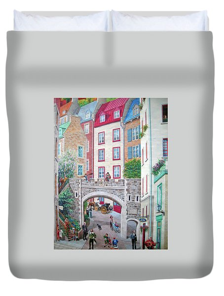 Duvet Cover featuring the photograph Time ... by Juergen Weiss