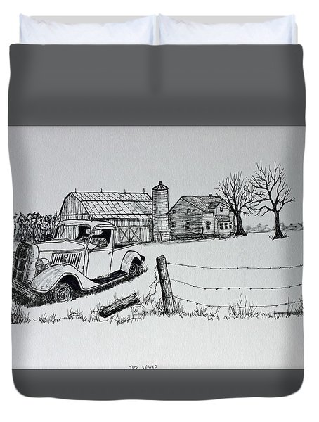 Time Served Duvet Cover