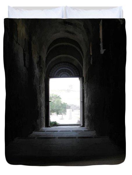 To Door In Jerash - Jordan Duvet Cover