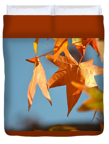 Duvet Cover featuring the photograph  It Feels Like Fall by Alex King