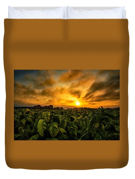 Tobacco Sunrise  Duvet Cover