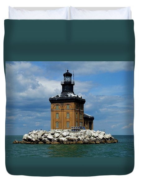 Toledo Harbor Lighthouse Duvet Cover
