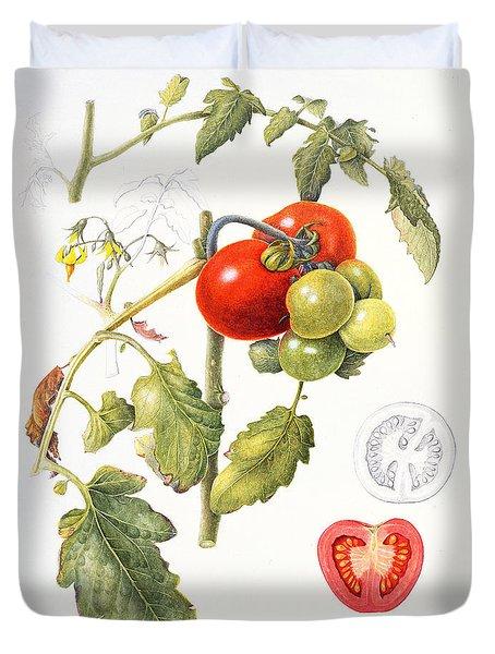 Tomatoes Duvet Cover by Margaret Ann Eden