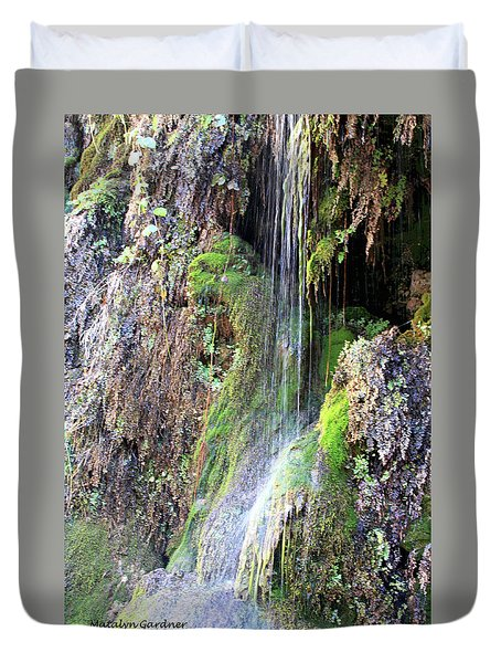 Tonto Waterfall Cave Duvet Cover