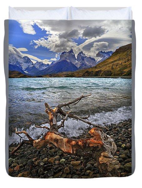Torres Del Paine 17 Duvet Cover by Bernardo Galmarini