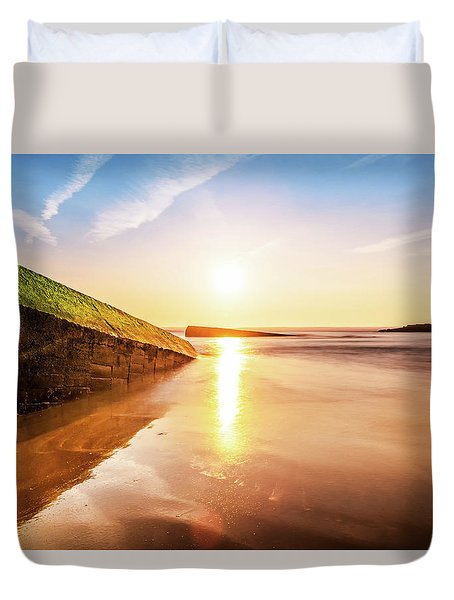 Touching The Golden Cloud Duvet Cover by Thierry Bouriat