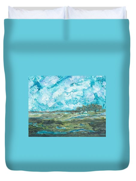 Toward Pinckney Island Duvet Cover