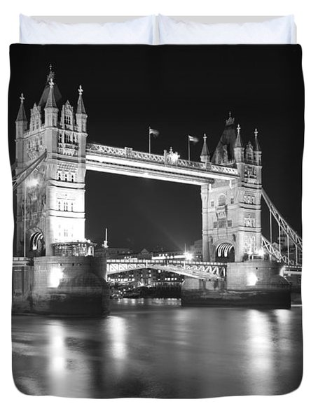 Tower Bridge On The Thames London Duvet Cover