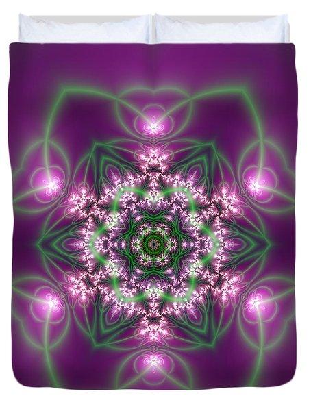 Duvet Cover featuring the digital art Transition Flower 6 Beats 3 by Robert Thalmeier