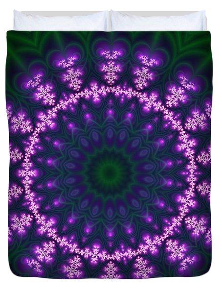Transition Flower  Duvet Cover by Robert Thalmeier