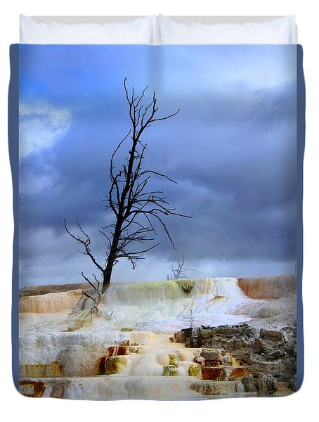 Travertine Terraces Duvet Cover