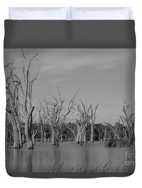 Tree Cemetery Duvet Cover by Douglas Barnard