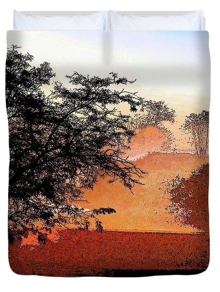 Tree In Morning Light Duvet Cover