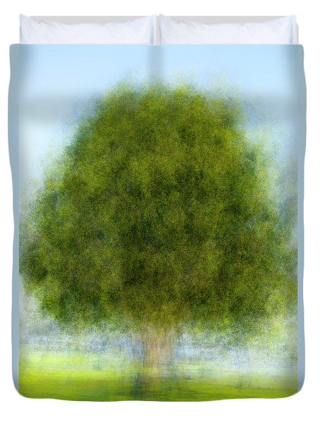 Tree In The Park Duvet Cover