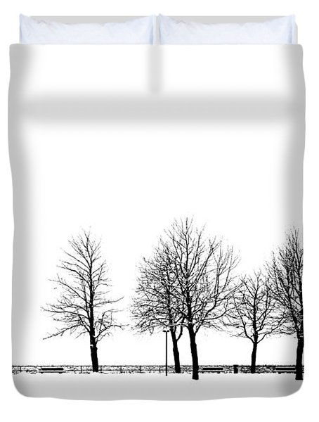 Duvet Cover featuring the photograph Trees by Chevy Fleet