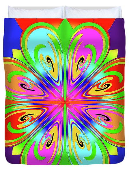Tribute To Peter Max Duvet Cover