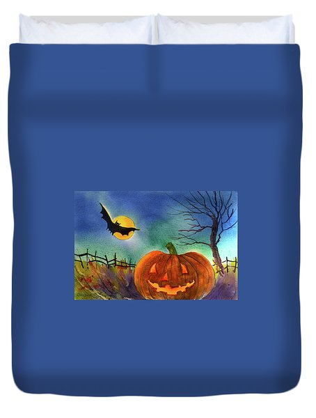 Trick Or Treat Duvet Cover by Teresa Ascone