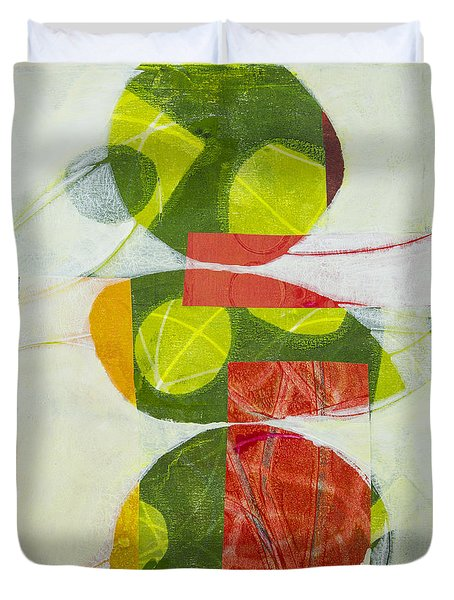 Duvet Cover featuring the mixed media Trio by Elena Nosyreva