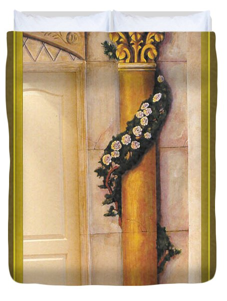 Trompe L'oeil Column Duvet Cover